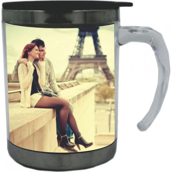 Cana metal insertie foto 350ml
